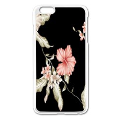 Buds Petals Dark Flower Pink Apple Iphone 6 Plus/6s Plus Enamel White Case by AnjaniArt