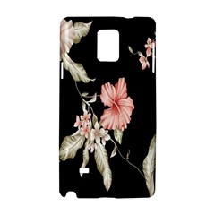 Buds Petals Dark Flower Pink Samsung Galaxy Note 4 Hardshell Case by AnjaniArt