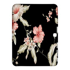 Buds Petals Dark Flower Pink Samsung Galaxy Tab 4 (10 1 ) Hardshell Case  by AnjaniArt