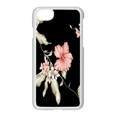 Buds Petals Dark Flower Pink Apple Iphone 7 Seamless Case (white) by AnjaniArt