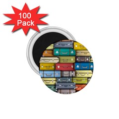 Colored Suitcases 1 75  Magnets (100 Pack)  by AnjaniArt