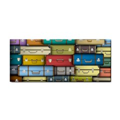 Colored Suitcases Cosmetic Storage Cases by AnjaniArt