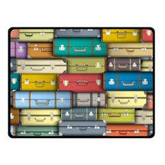Colored Suitcases Fleece Blanket (small) by AnjaniArt