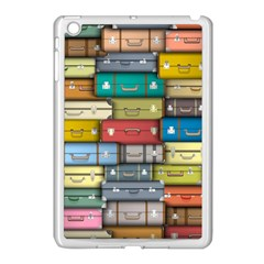 Colored Suitcases Apple Ipad Mini Case (white) by AnjaniArt