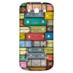 Colored Suitcases Samsung Galaxy S3 S Iii Classic Hardshell Back Case by AnjaniArt