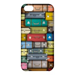 Colored Suitcases Apple Iphone 5c Hardshell Case by AnjaniArt