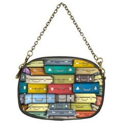 Colored Suitcases Chain Purses (one Side)  by AnjaniArt
