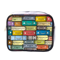 Colored Suitcases Mini Toiletries Bags by AnjaniArt
