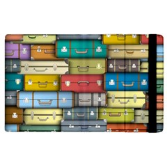 Colored Suitcases Apple Ipad 2 Flip Case by AnjaniArt