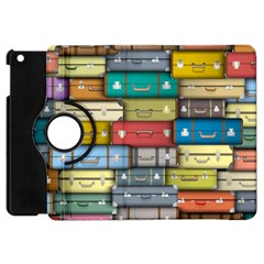 Colored Suitcases Apple Ipad Mini Flip 360 Case by AnjaniArt