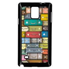 Colored Suitcases Samsung Galaxy Note 4 Case (black) by AnjaniArt