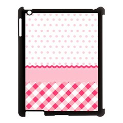 Cute Cartoon Decorative Pink Apple Ipad 3/4 Case (black) by AnjaniArt