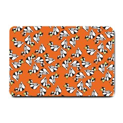 Cat Hat Orange Small Doormat  by AnjaniArt