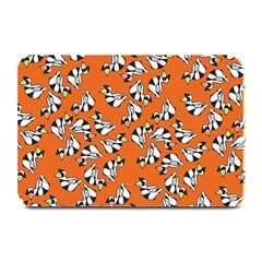 Cat Hat Orange Plate Mats by AnjaniArt