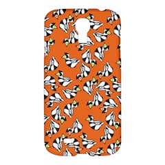 Cat Hat Orange Samsung Galaxy S4 I9500/i9505 Hardshell Case by AnjaniArt