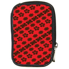 Diogonal Flower Red Compact Camera Cases by AnjaniArt