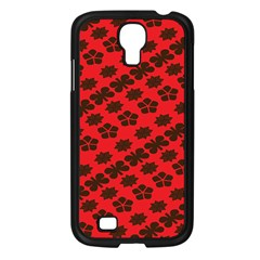 Diogonal Flower Red Samsung Galaxy S4 I9500/ I9505 Case (black) by AnjaniArt