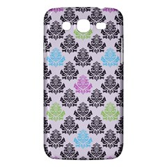 Damask Small Flower Purple Green Blue Black Floral Samsung Galaxy Mega 5 8 I9152 Hardshell Case  by AnjaniArt
