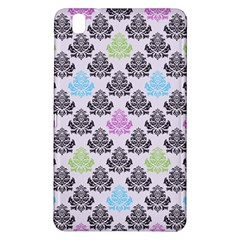Damask Small Flower Purple Green Blue Black Floral Samsung Galaxy Tab Pro 8 4 Hardshell Case by AnjaniArt