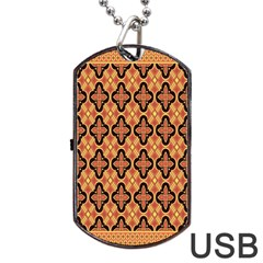 Flower Batik Dog Tag Usb Flash (two Sides)  by AnjaniArt
