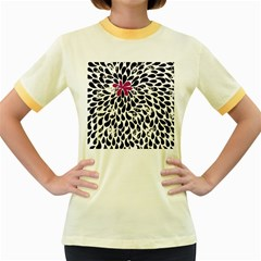 Flower Simple Pink Women s Fitted Ringer T Shirts by AnjaniArt
