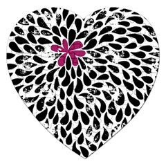 Flower Simple Pink Jigsaw Puzzle (heart) by AnjaniArt