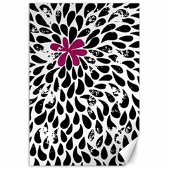 Flower Simple Pink Canvas 20  X 30   by AnjaniArt