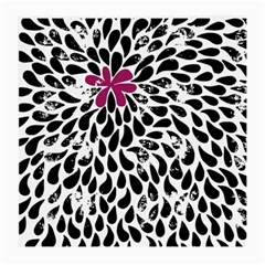Flower Simple Pink Medium Glasses Cloth (2 Side) by AnjaniArt