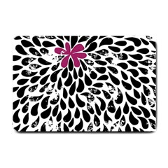 Flower Simple Pink Small Doormat  by AnjaniArt