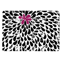 Flower Simple Pink Samsung Galaxy Tab 10 1  P7500 Flip Case by AnjaniArt