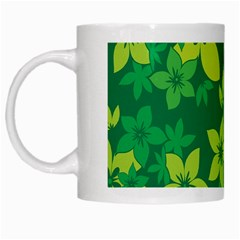 Flower Yellow Green White Mugs by AnjaniArt