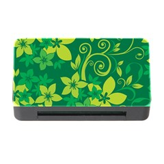 Flower Yellow Green Memory Card Reader With Cf by AnjaniArt