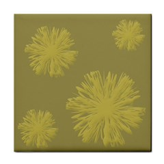 Flower Yelow Tile Coasters