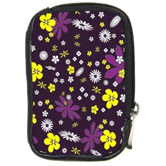 Floral Purple Flower Yellow Compact Camera Cases by AnjaniArt