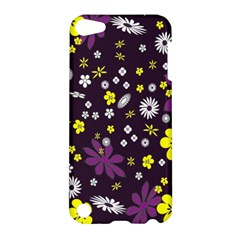 Floral Purple Flower Yellow Apple Ipod Touch 5 Hardshell Case by AnjaniArt