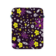 Floral Purple Flower Yellow Apple Ipad 2/3/4 Protective Soft Cases by AnjaniArt