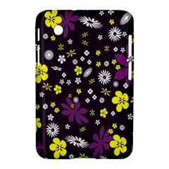 Floral Purple Flower Yellow Samsung Galaxy Tab 2 (7 ) P3100 Hardshell Case  by AnjaniArt