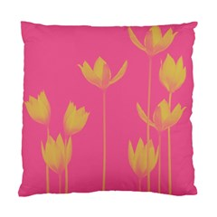 Flower Yellow Pink Standard Cushion Case (two Sides) by AnjaniArt