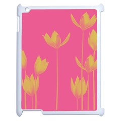 Flower Yellow Pink Apple Ipad 2 Case (white) by AnjaniArt