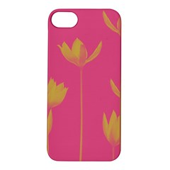 Flower Yellow Pink Apple Iphone 5s/ Se Hardshell Case by AnjaniArt