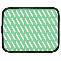 Green White Desktop Netbook Case (xl)  by AnjaniArt