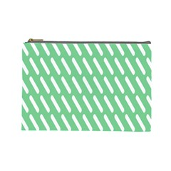 Green White Desktop Cosmetic Bag (large)  by AnjaniArt