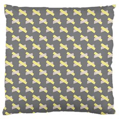 Hearts And Yellow Crossed Washi Tileable Gray Standard Flano Cushion Case (Two Sides) by AnjaniArt