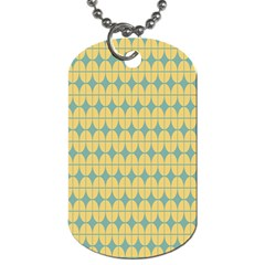 Green Yellow Dog Tag (two Sides) by AnjaniArt