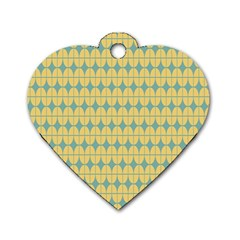 Green Yellow Dog Tag Heart (one Side) by AnjaniArt