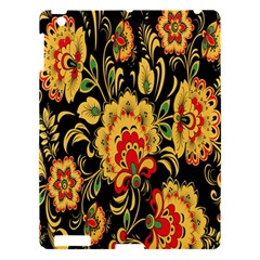 Flower Yellow Green Red Apple Ipad 3/4 Hardshell Case by AnjaniArt