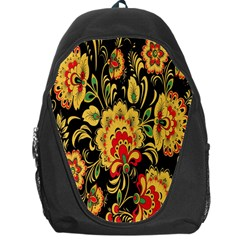 Flower Yellow Green Red Backpack Bag by AnjaniArt
