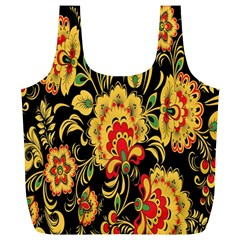 Flower Yellow Green Red Full Print Recycle Bags (l)  by AnjaniArt