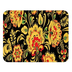 Flower Yellow Green Red Double Sided Flano Blanket (large)  by AnjaniArt