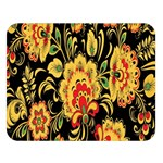 Flower Yellow Green Red Double Sided Flano Blanket (Large)   Blanket Back